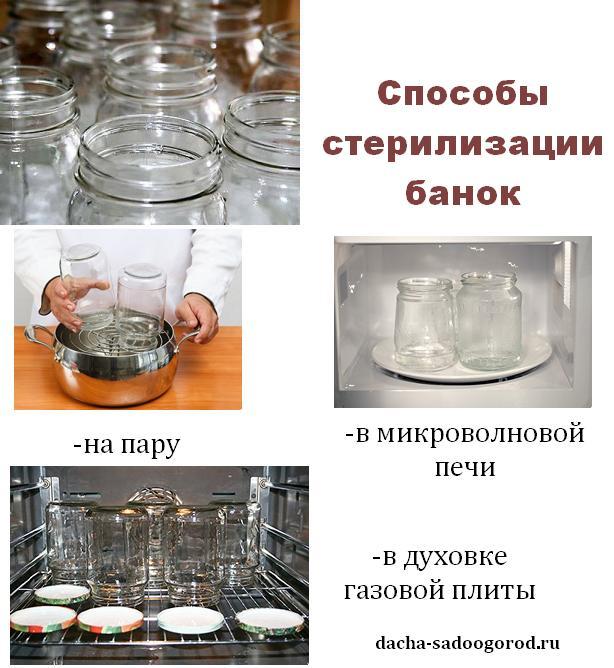 способы стерилизации банок