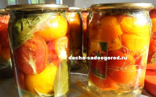 помидоры Пальчики Оближешь на зиму половинками
